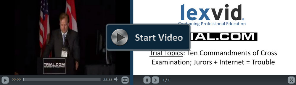 the ten commandments of cross examination The ten commandments of cross-examination is a best-selling title in irving younger's famous basic concepts in the law of evidence dvd series that was produced during .