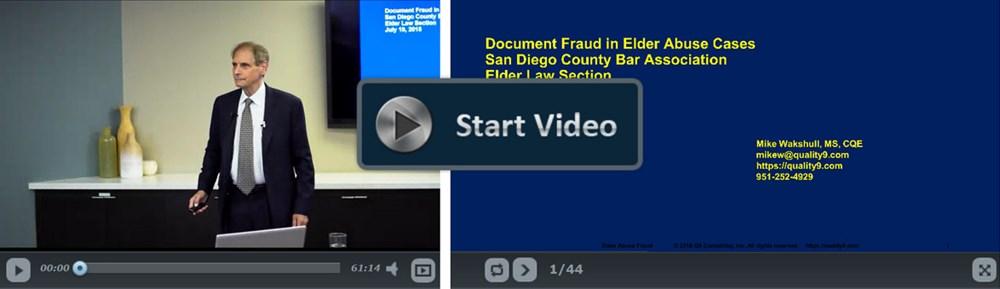 Document Fraud in Elder Abuse Cases