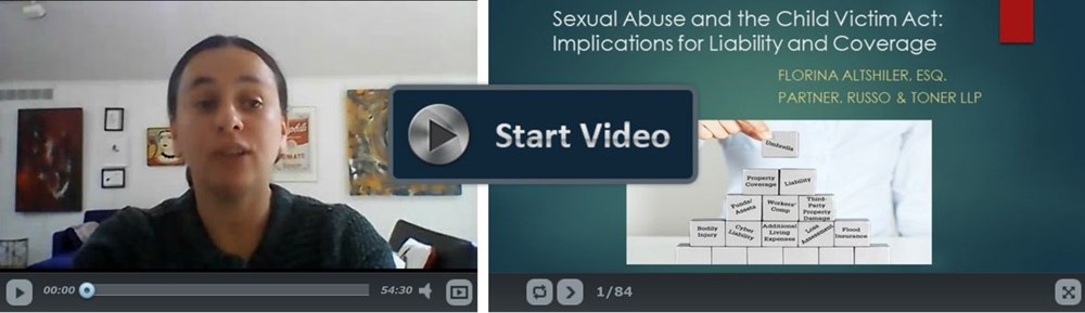 Sexual Abuse and the Child Victim Act: Implications for Liability and Coverage