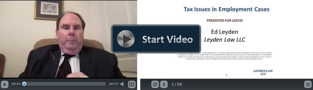 Tax Issues in Employment Claims